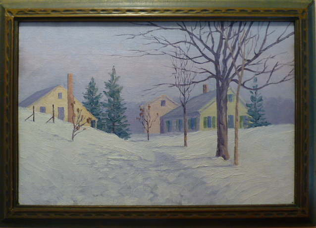 Snowbound Houses by Hedley Waycott           10x16 oob