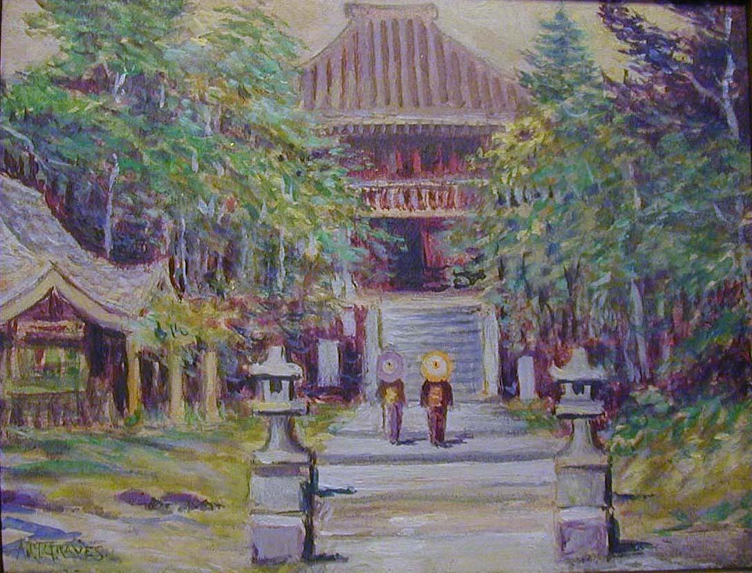 Watercolor artists directory wiki - Albert Melville Graves Kamakura