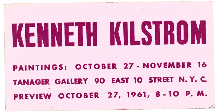 Kilstrom show at Tanager Gallery