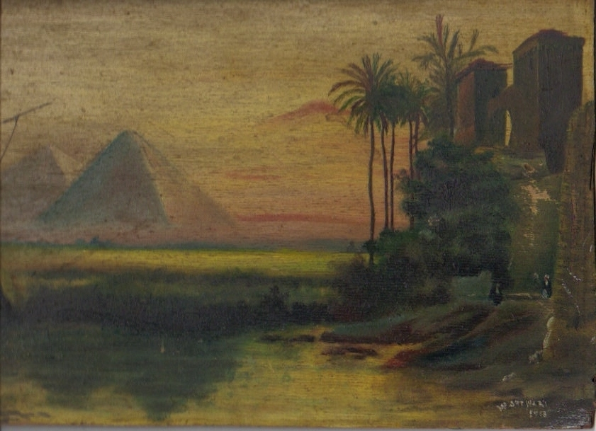 W. Stewart Egyption                       scene