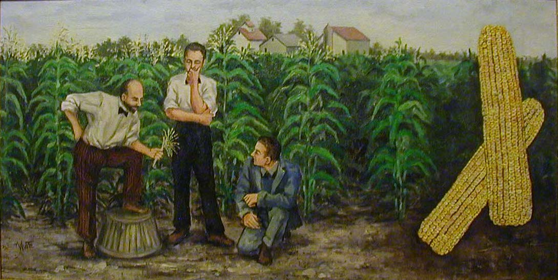 White corn           painting